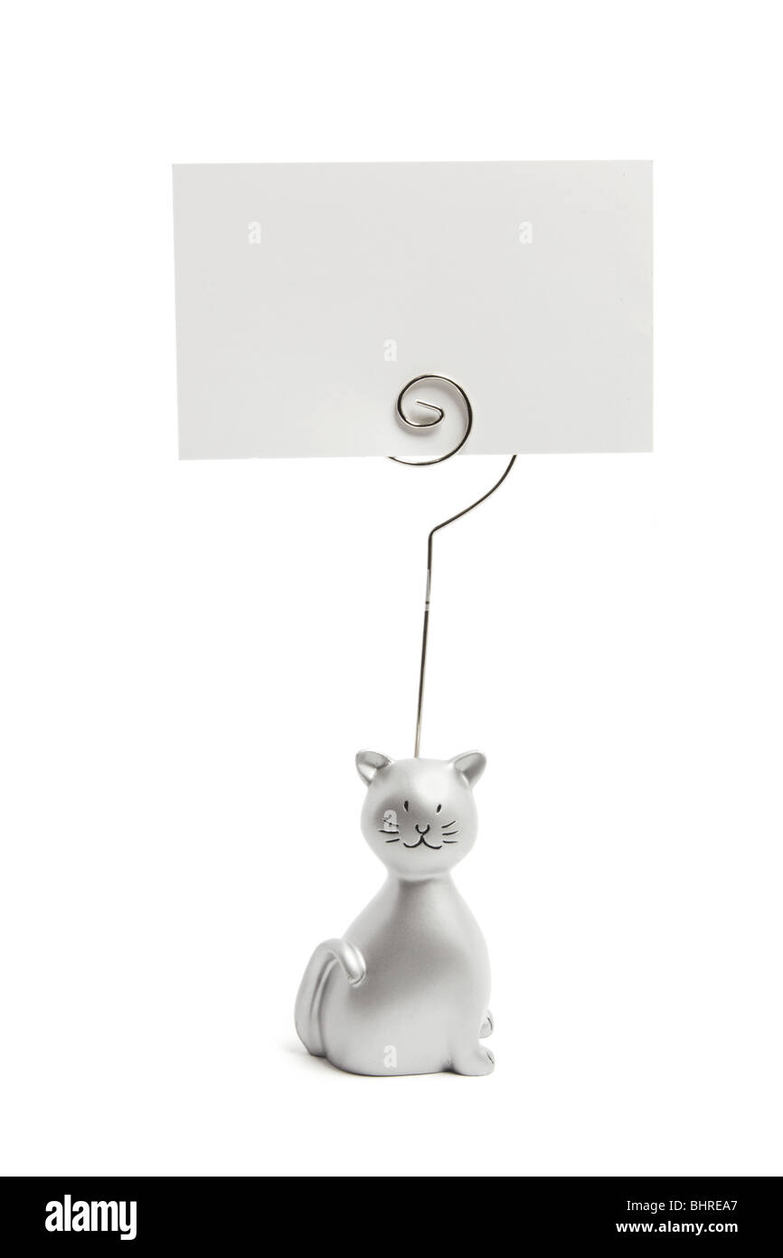 Cat Memo Clip on - Stock Image