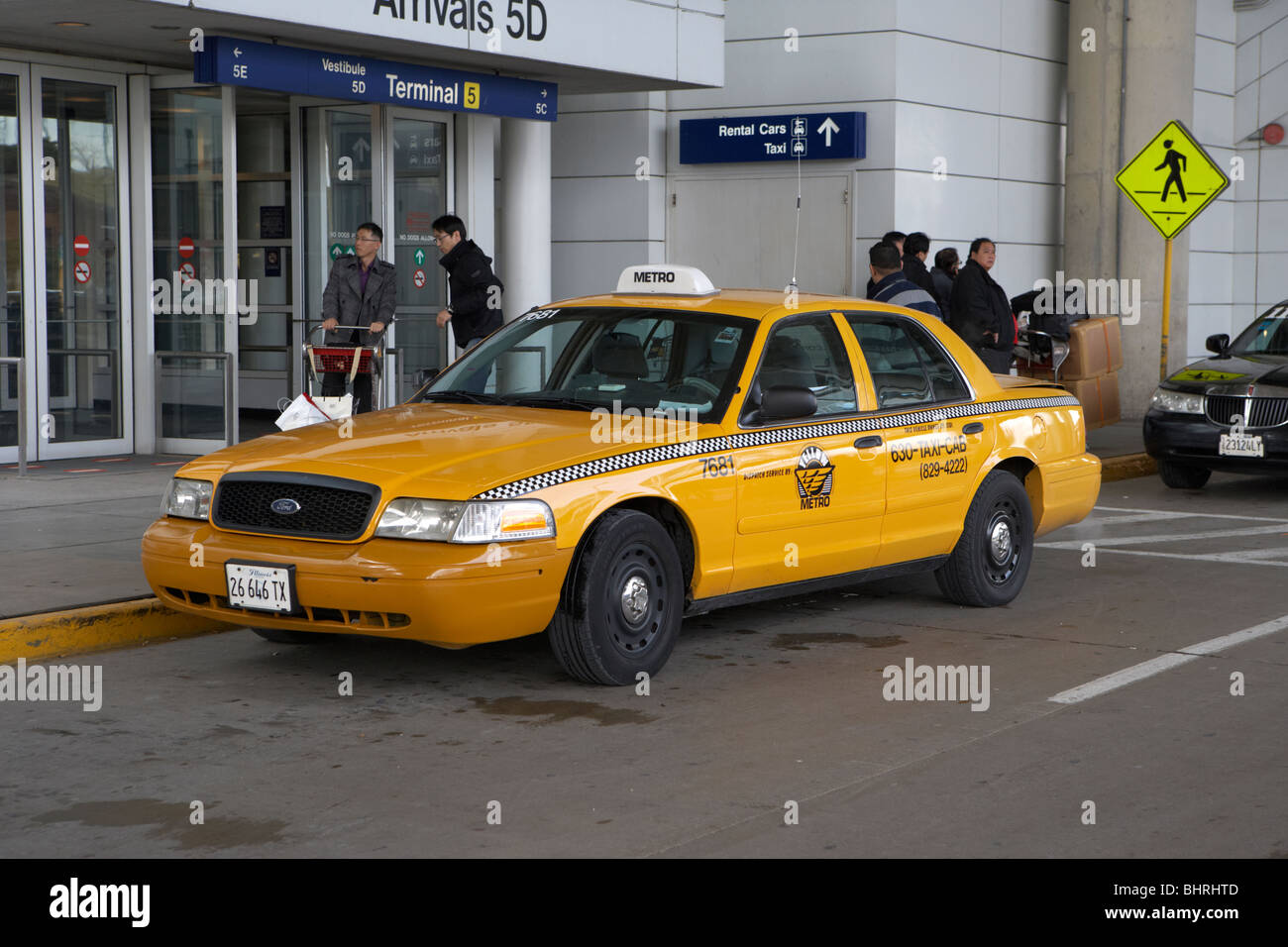 Chicago Yellow Cab Stock Photos & Chicago Yellow Cab Stock Images
