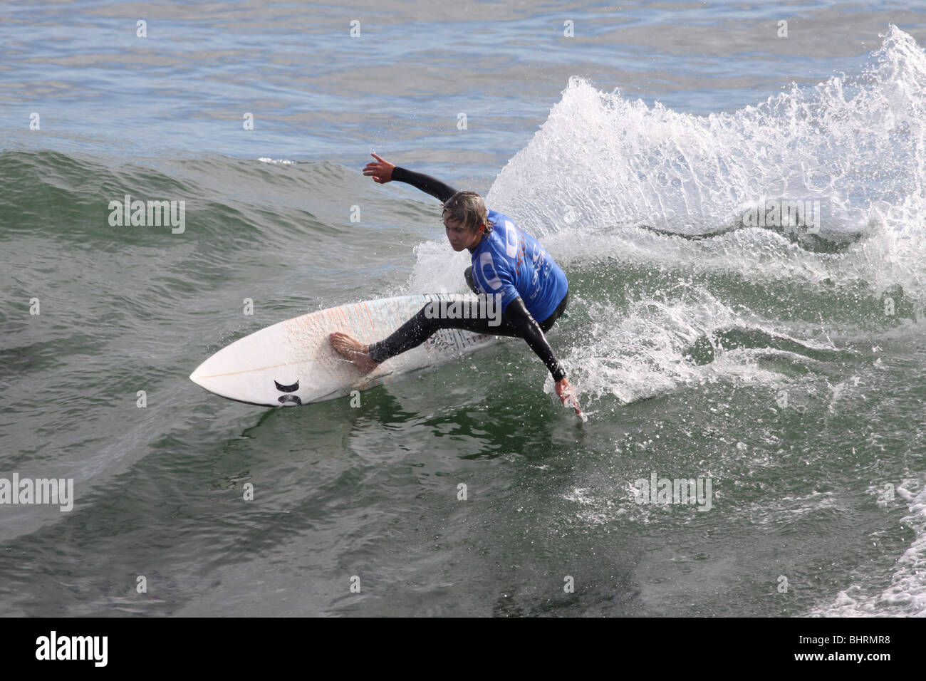 surfing competition Monterey Bay California - Stock Image