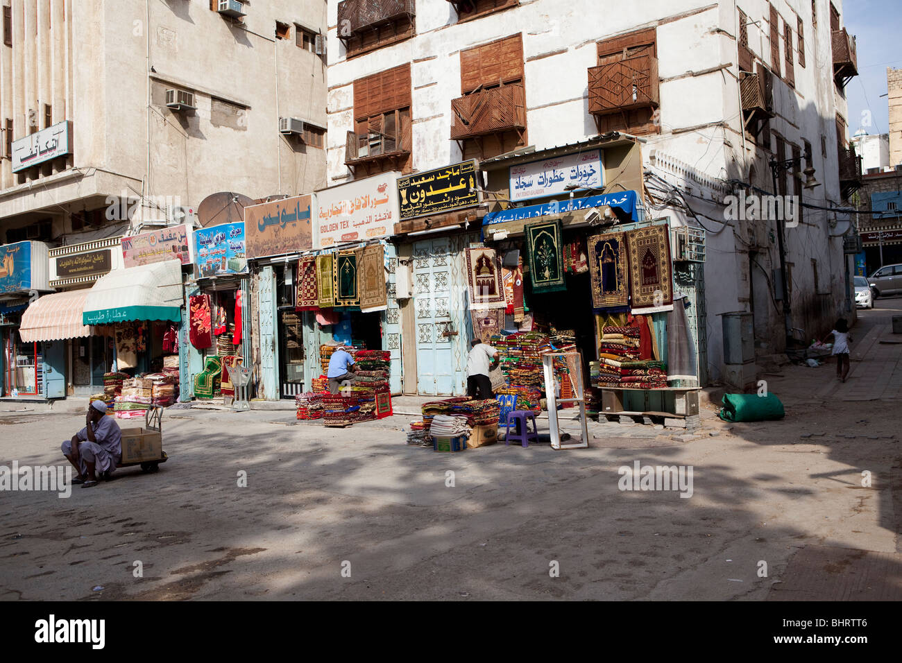 al balad old town jeddah saudi arabia souk market stock photo