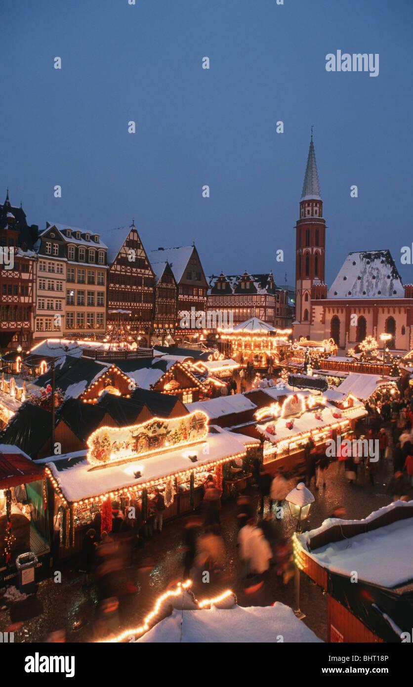 Weihnachtsmarkt Frankfurt Main.Europe Germany Hessen Frankfurt Weihnachtsmarkt Stock Photos