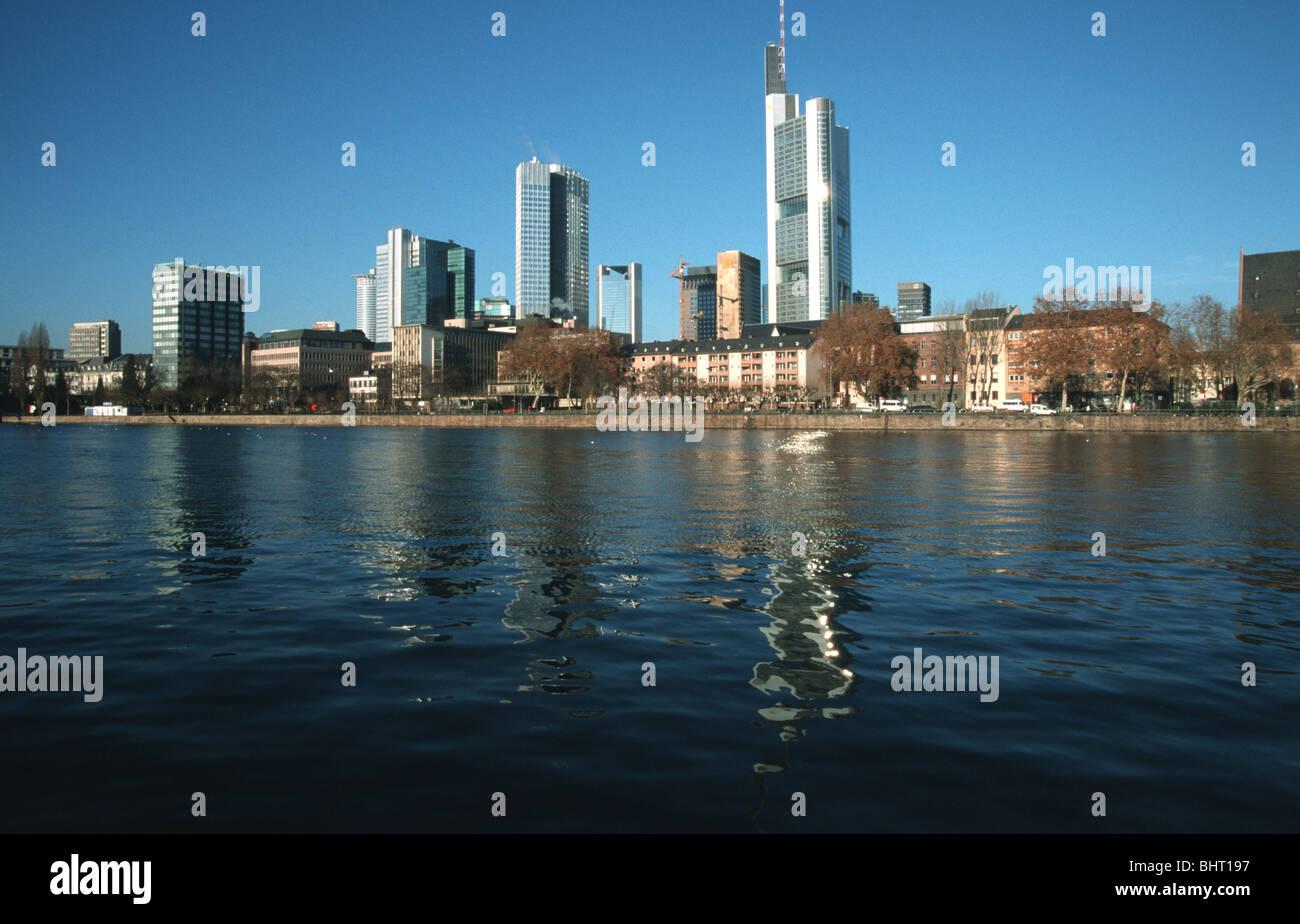 Deutschland, Germany,Frankfurt am Main Frankfurt am Main Main, Skyline River Main, skyline - Stock Image