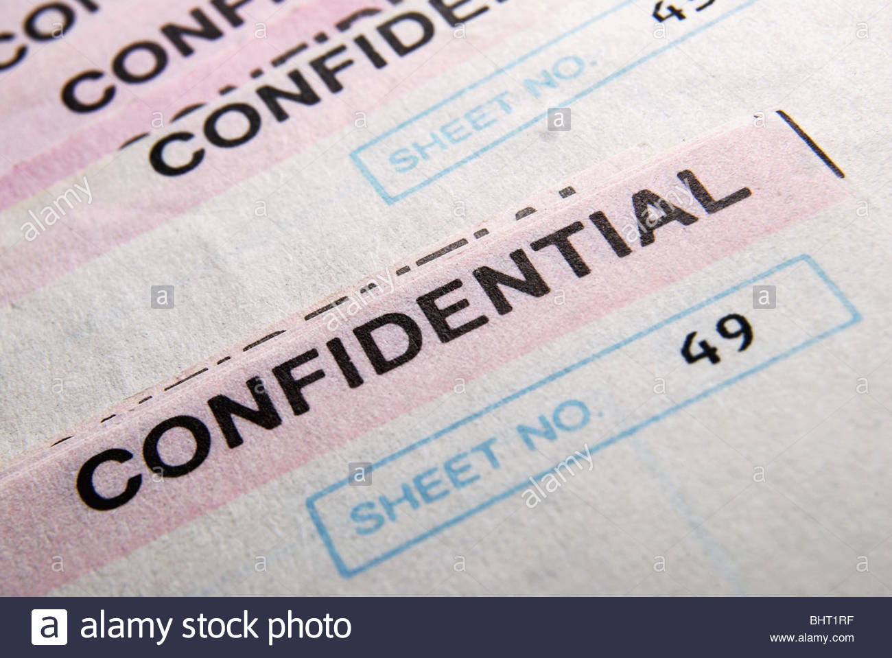 UK bank statements 'Confidential' - Stock Image