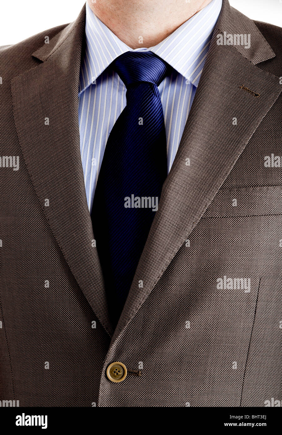 Close-up picture of a business suit with neck necktie - Stock Image