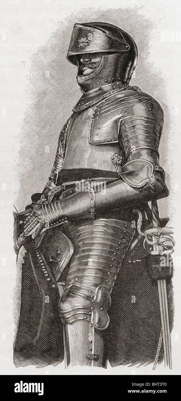 Gilt Armour given to Charles I by the city of London. - Stock Image