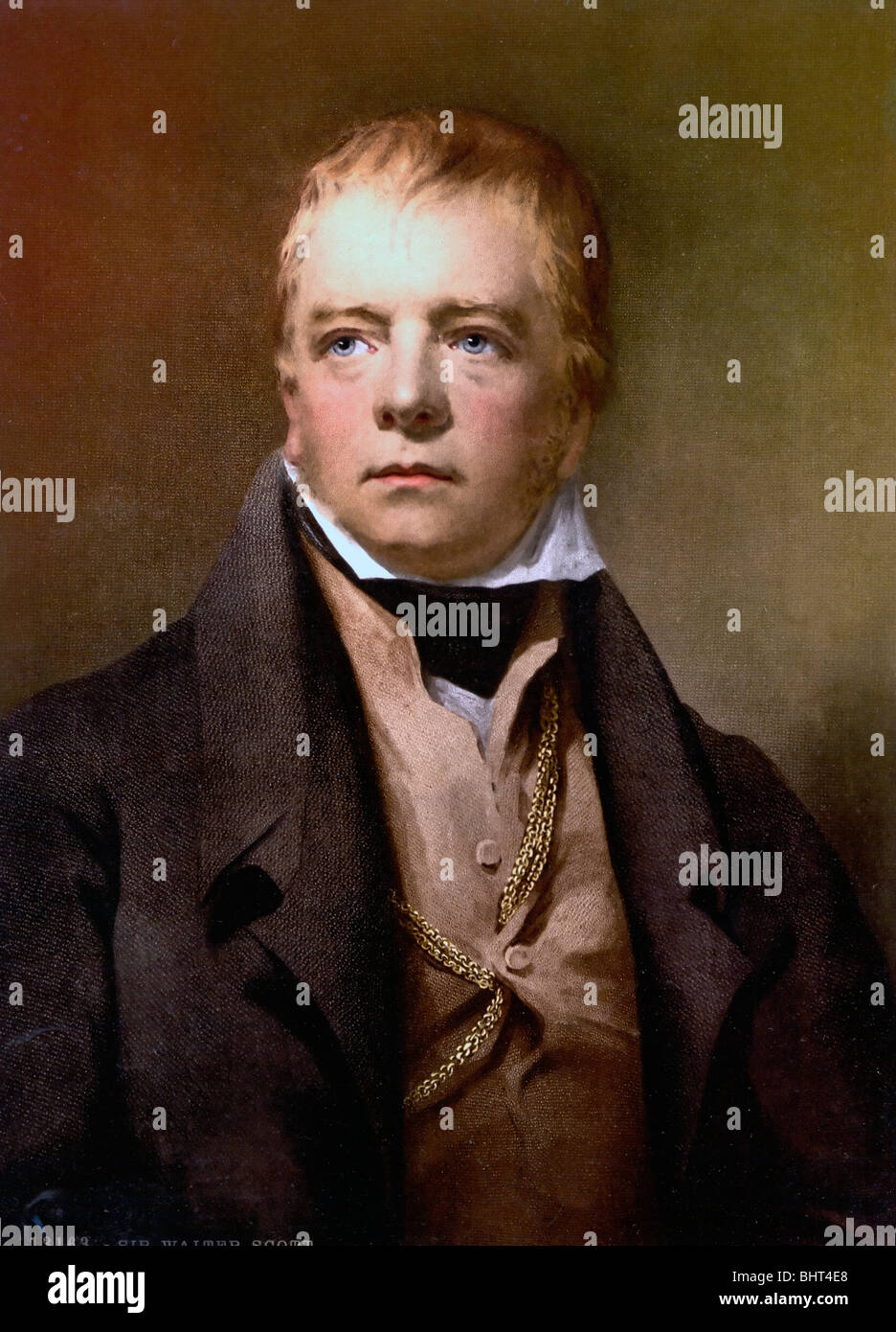 Portrait of Sir Walter Scott (1771-1832), Scottish writer and poet and one of the greatest historical novelists. - Stock Image