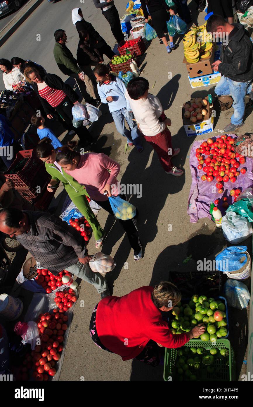 Market in Tirana, Albania - Stock Image