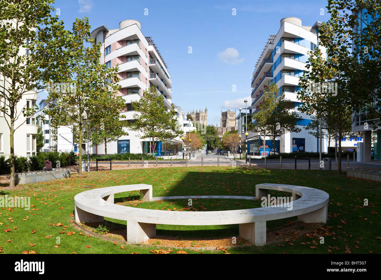 'Domain' by Langlands and Bell, situated in the Crest Nicholson Harbourside Development at Canons Marsh, - Stock Image