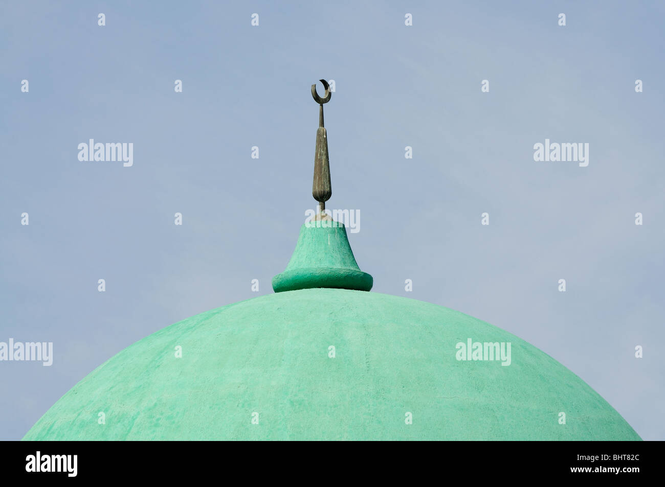 Mosque Cupola in Abu Dhabi, United Arab Emirates - Stock Image
