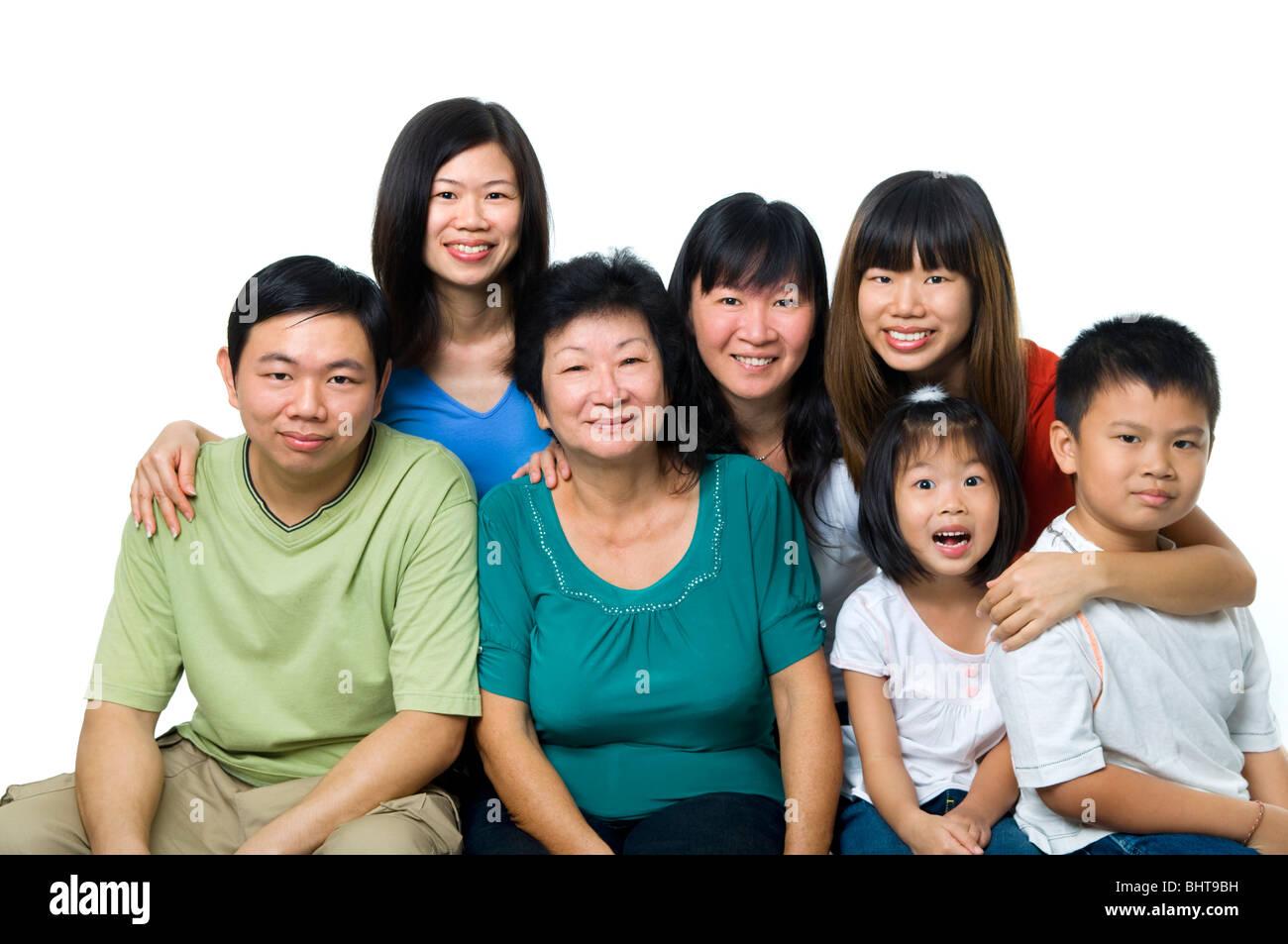 Asian white family