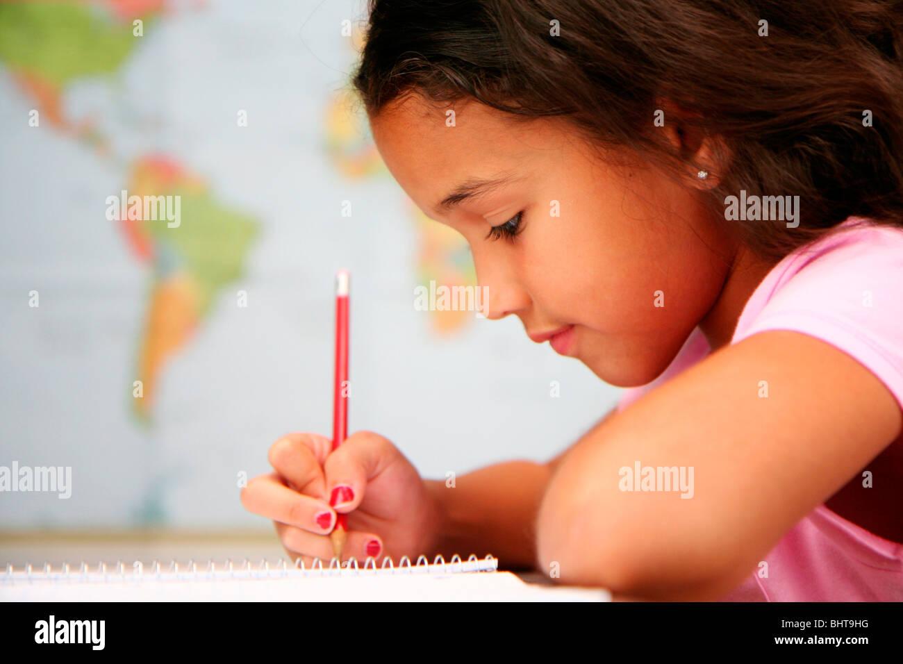 Child at school - Stock Image