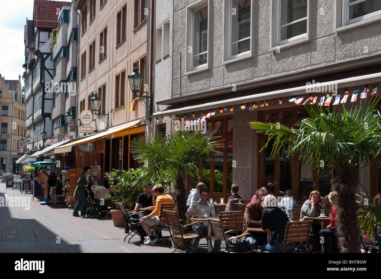 Altstadt, Kramerstrasse, Hannover, Niedersachsen, Deutschland | Hannover, old town, Kramer street, Lower Saxony, - Stock Image