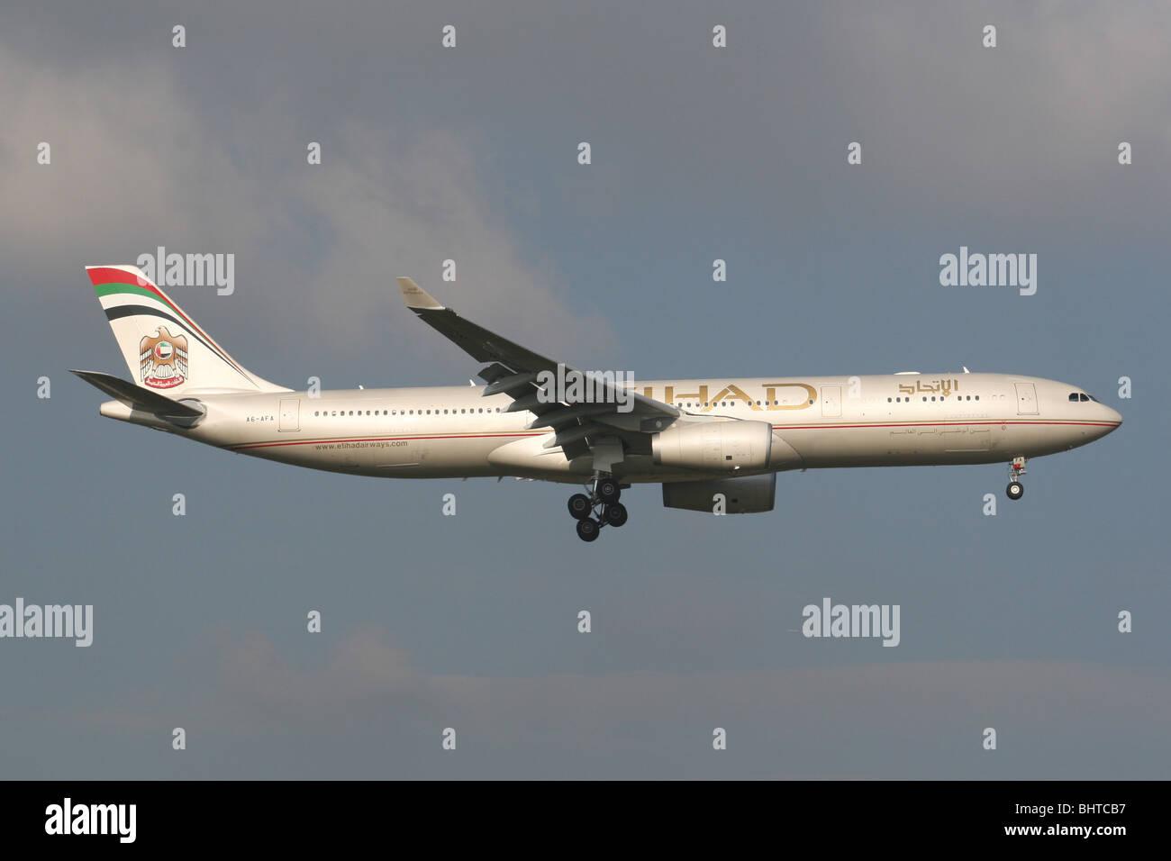 ETIHAD AIRLINES UAE - Stock Image