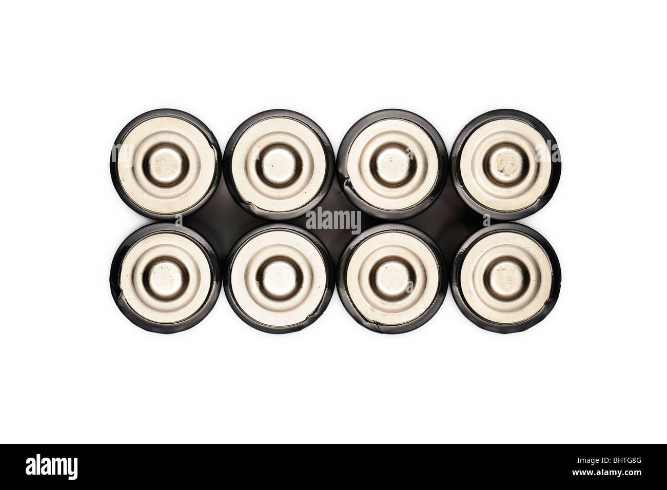 Eight batteries - Stock Image