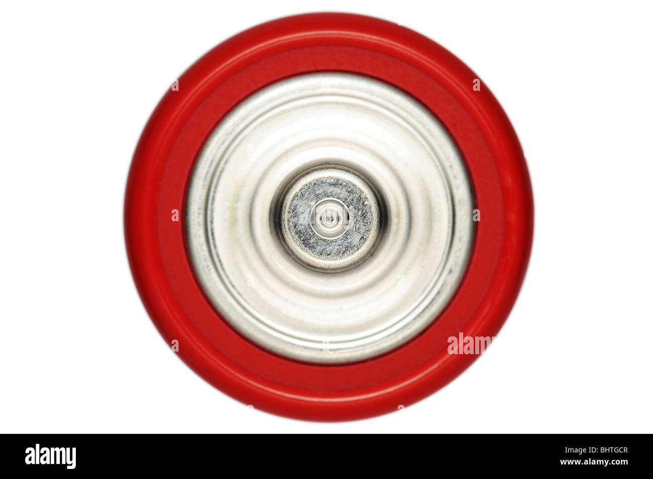 The top of a battery - Stock Image