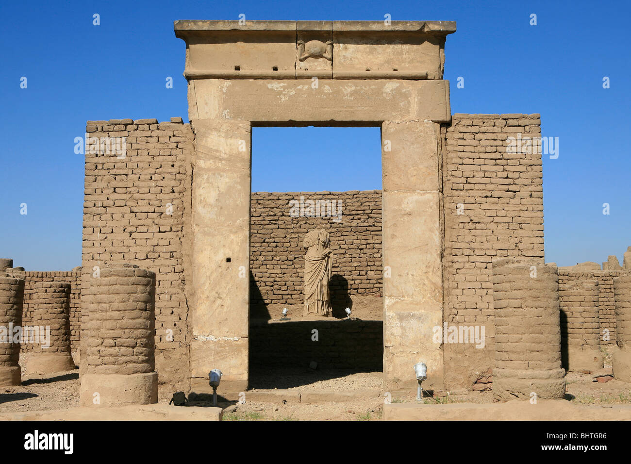Chapel of Serapis at Luxor Temple in Luxor, Egypt - Stock Image