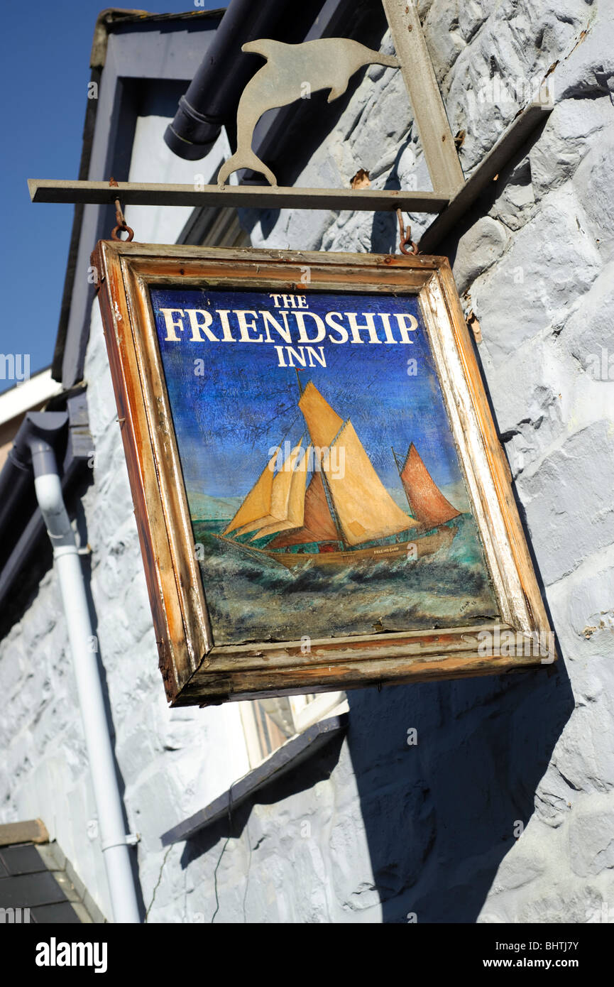 The Friendship Inn, pub, Borth, Ceredigion, Wales UK - Stock Image