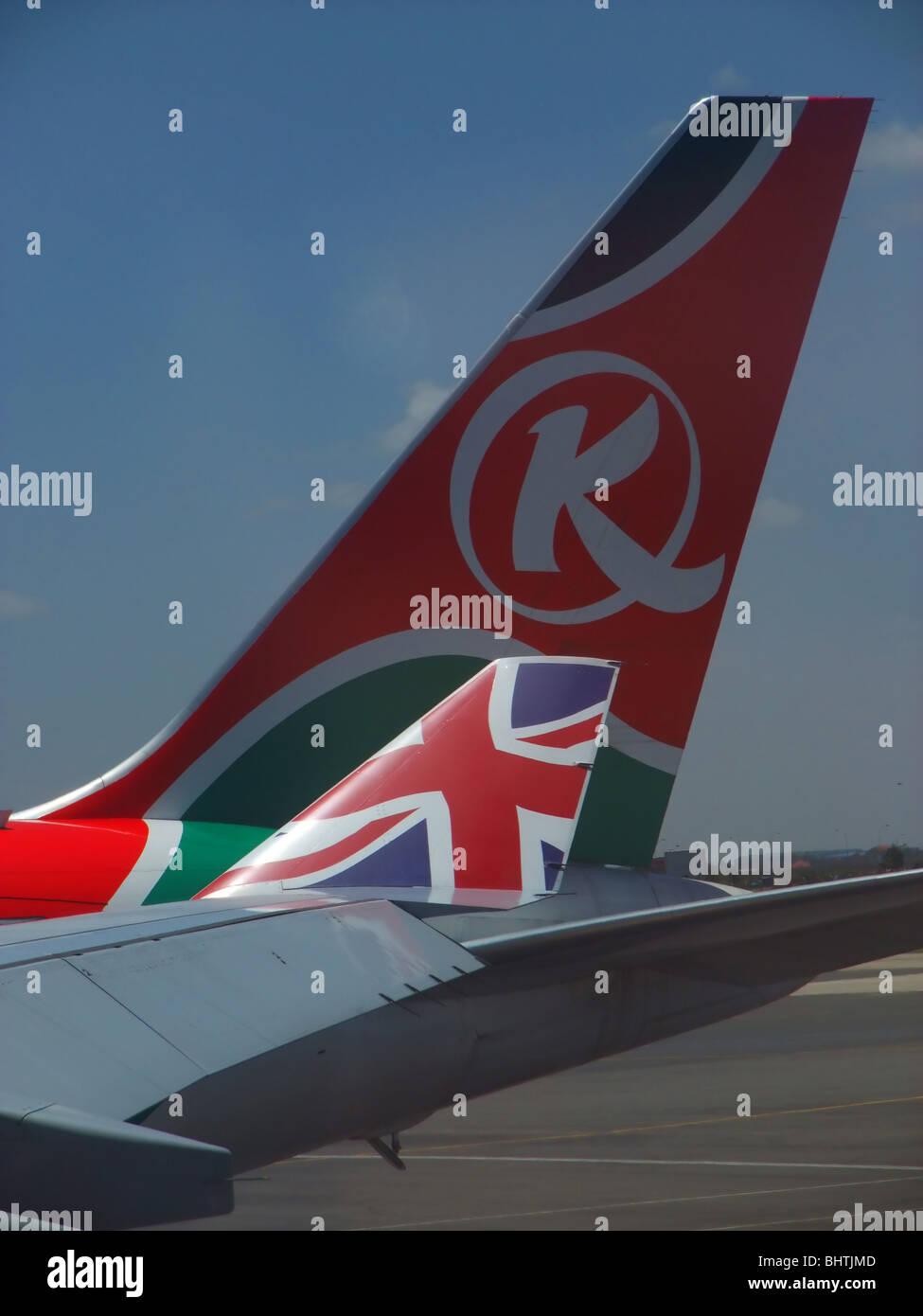 airplane winglet - Stock Image