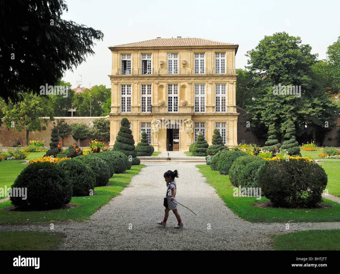 The Musee de Pavillon de Vendome, Aix en Provence, Provence Alpes Cote d'Azur, France. 18 Century French town - Stock Image