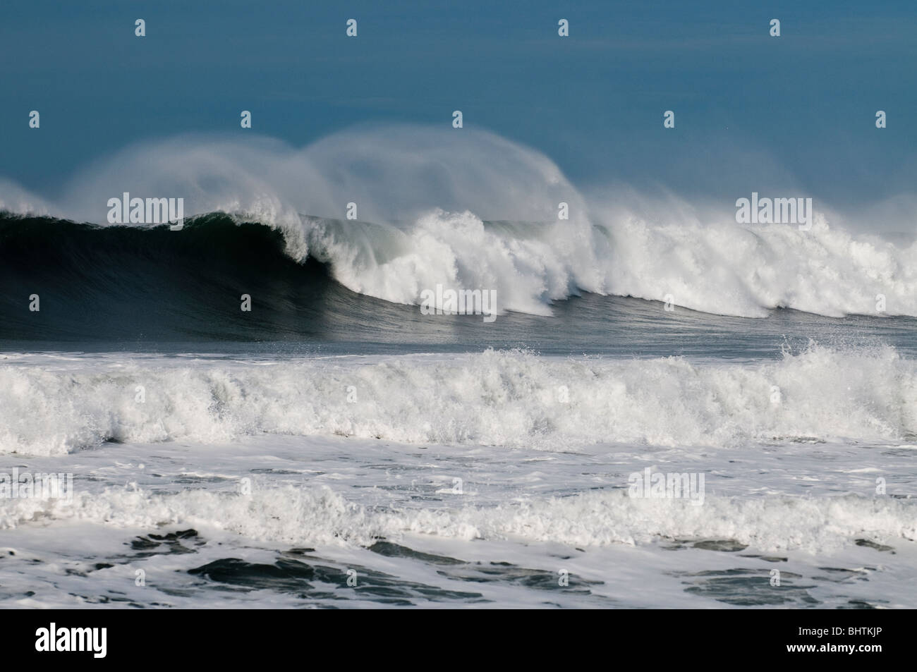 Pacific Ocean Waves crashing - Stock Image