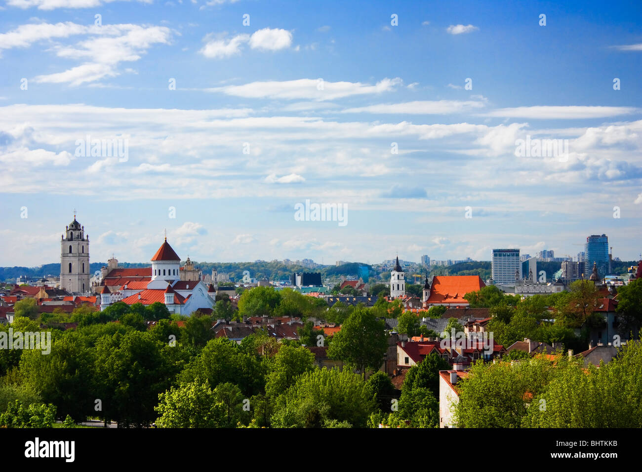 Old town vilnius - Stock Image