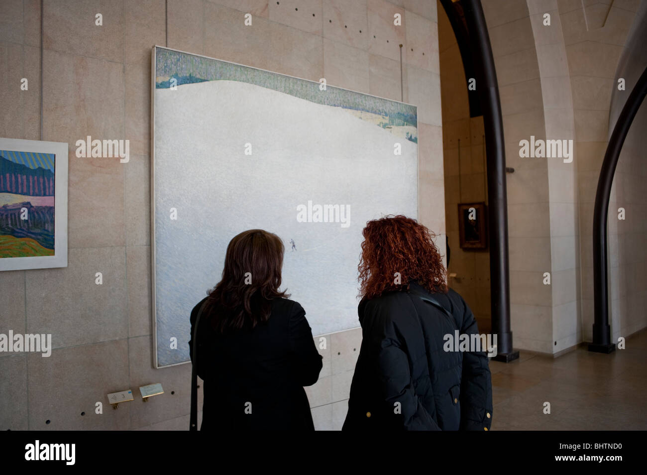 Paris, France - Symbolist Post Impressionist Painting on Display Inside of Orsay Museum, - Stock Image