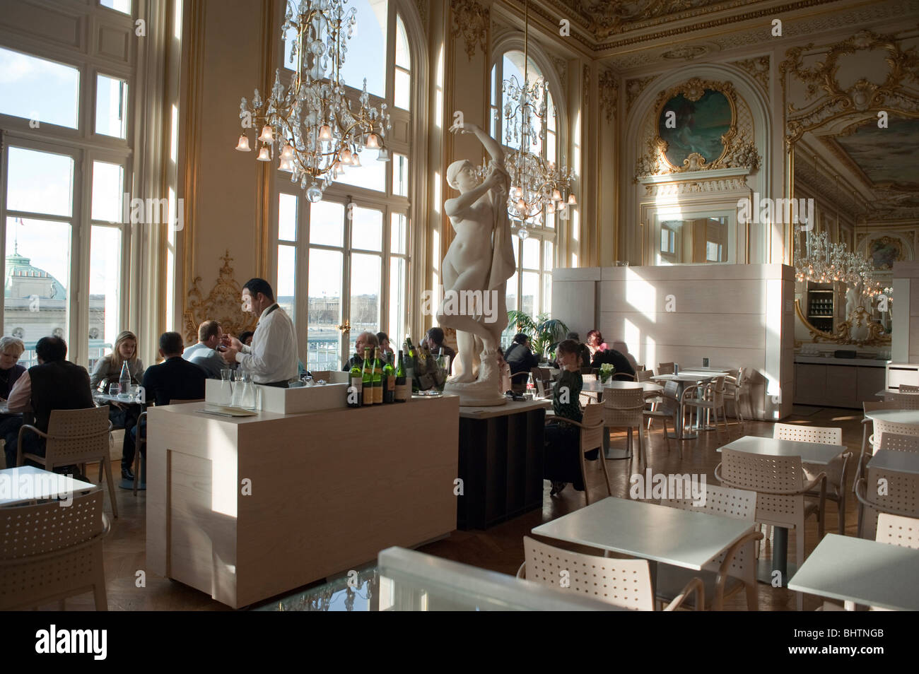 Paris, France - People Sharing Drinks in French Bar Restaurant ...