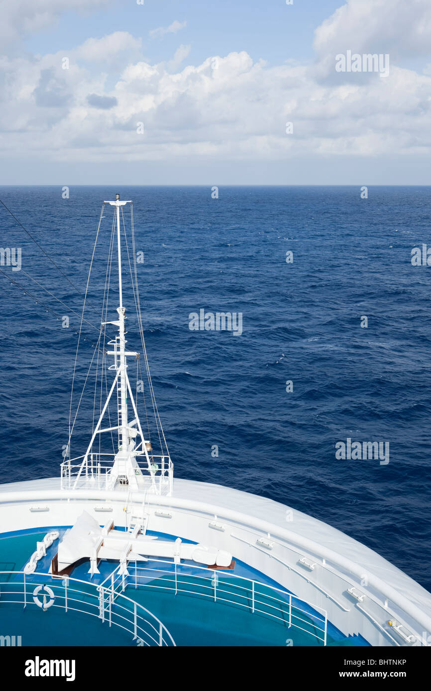 Shot of the bow of a luxury passenger cruise liner - Stock Image