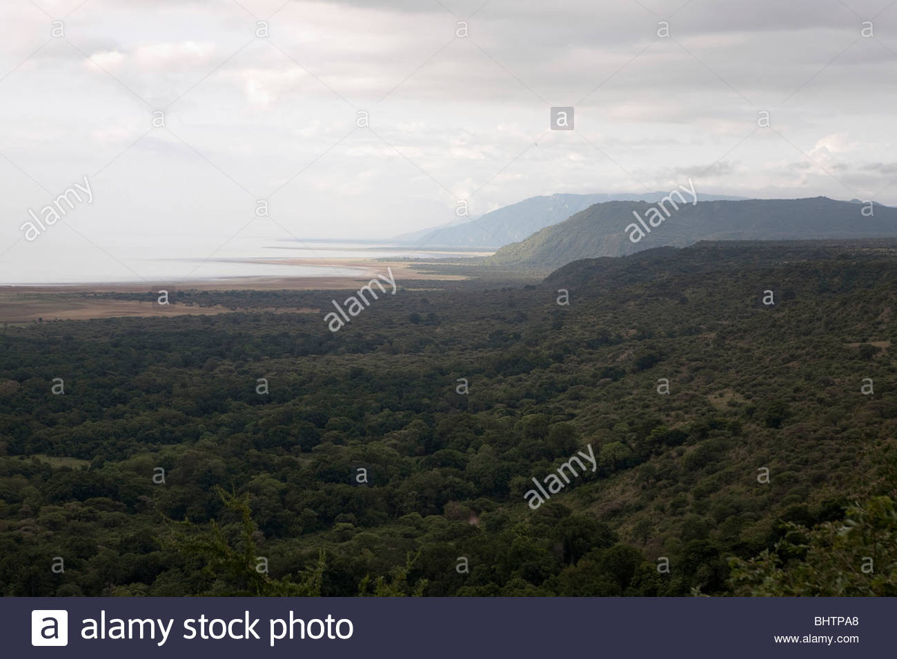Rift valley at Lake Manyara, Tanzania. - Stock Image