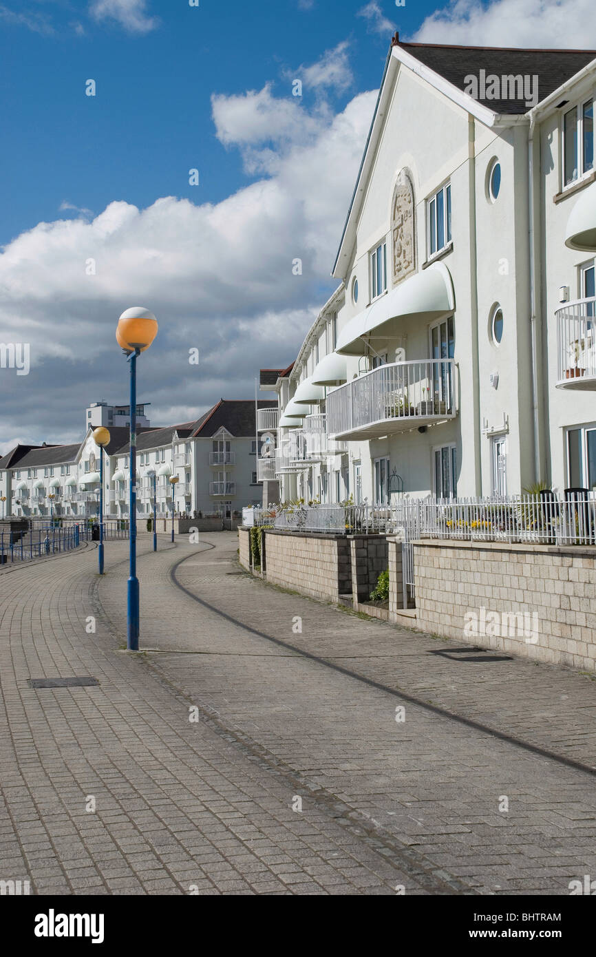 this is in west wales in swansea promenade facing the mumbles Stock Photo