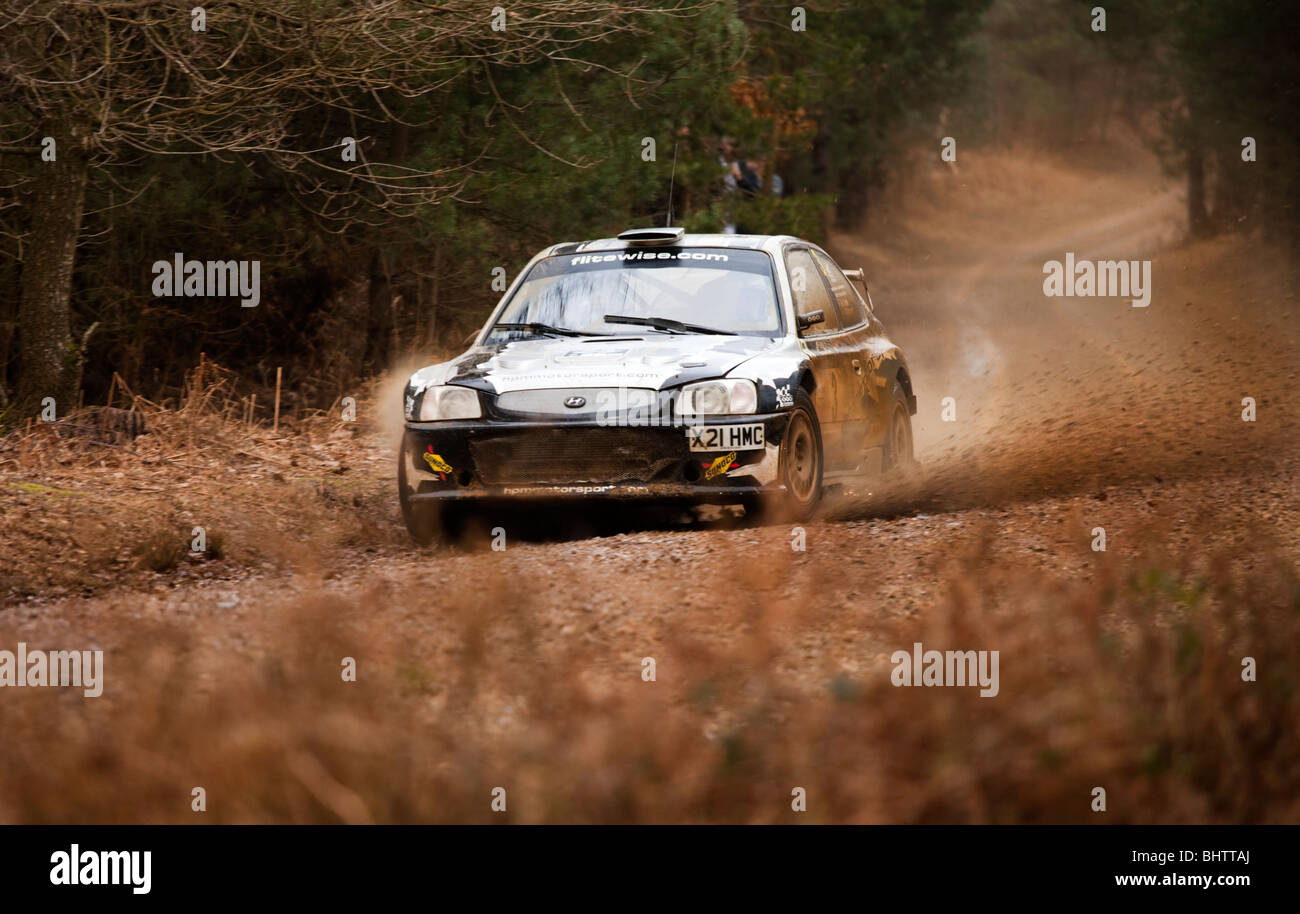 Marcus Dodd, Andrew Bargery, Winner of Rallye Sunseeker Sunday 28th February 2010 - Stock Image