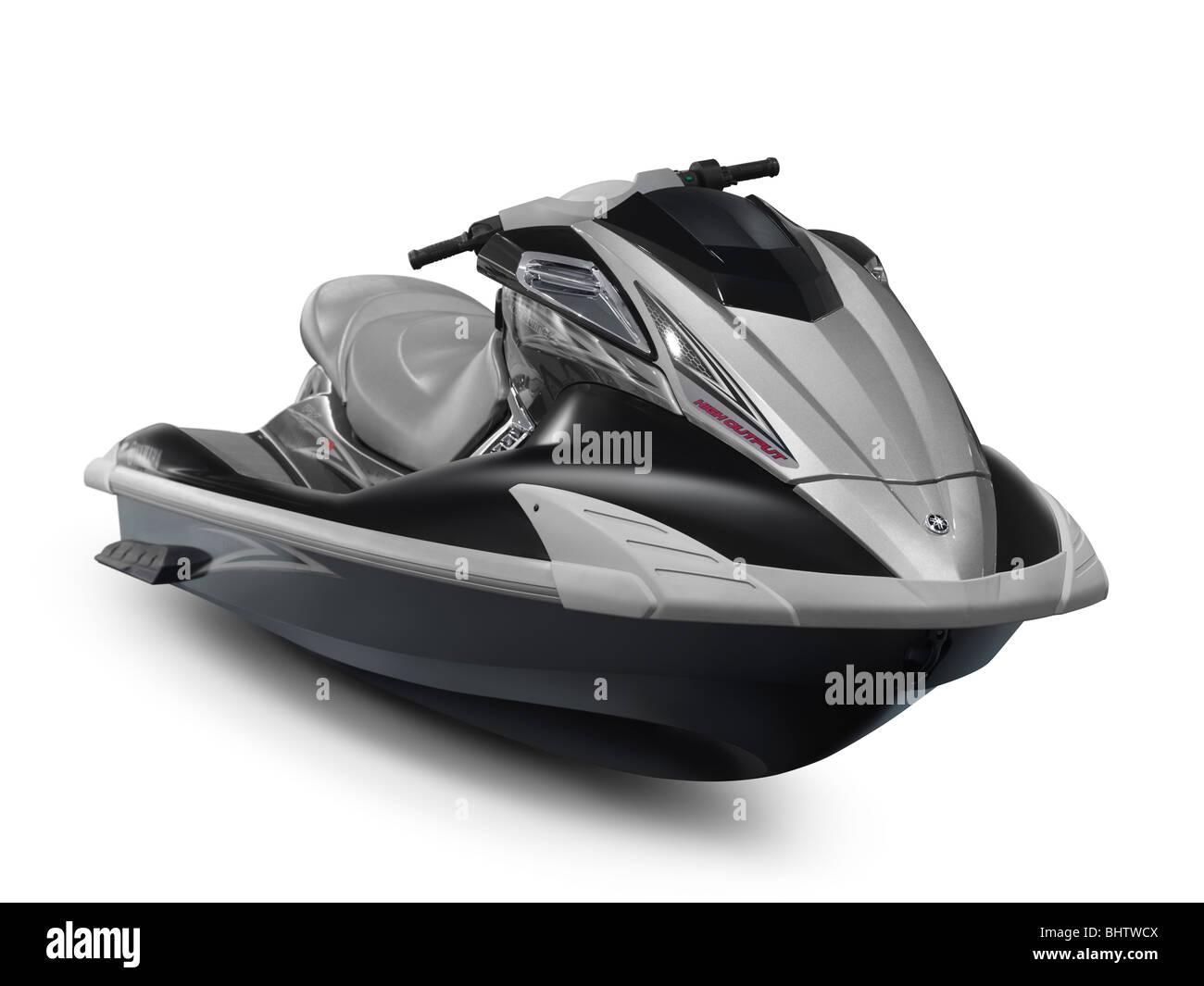2010 Yamaha WaveRunner FX HO jetski isolated on white background with clipping path - Stock Image
