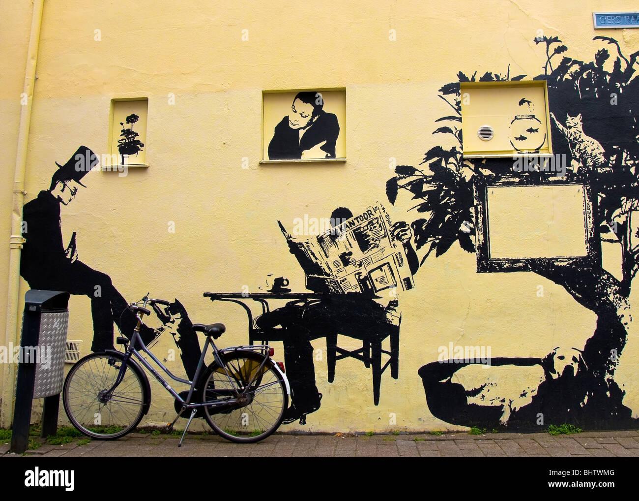Street Art, Haarlem, Holland Stock Photo