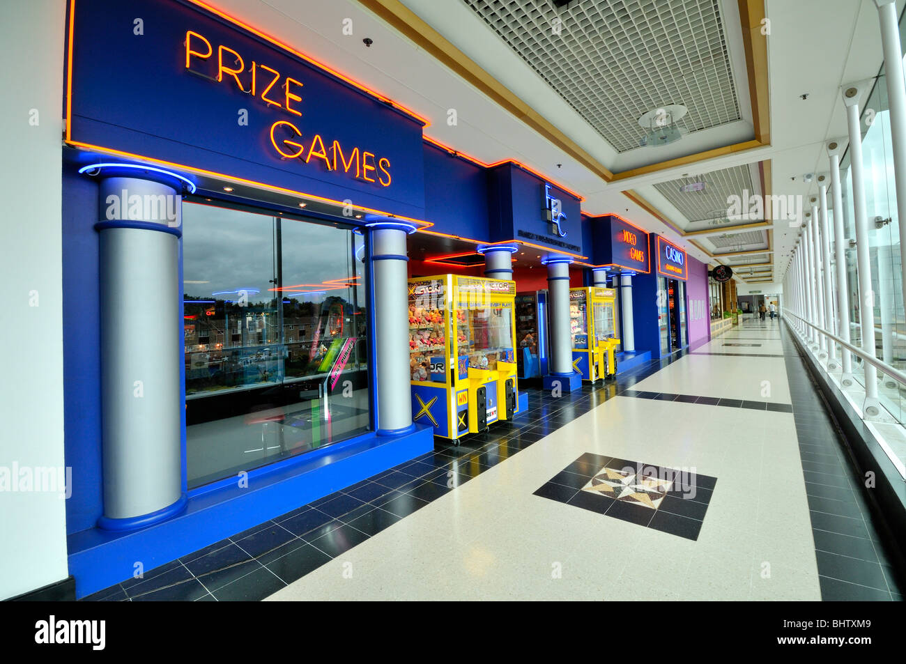 Gambling and Game Arcade inside a shopping Centre. - Stock Image