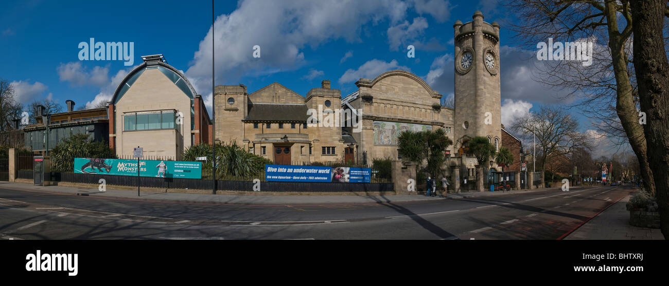 Panorama of The Horniman Museum, Forest Hill, London, UK - Stock Image