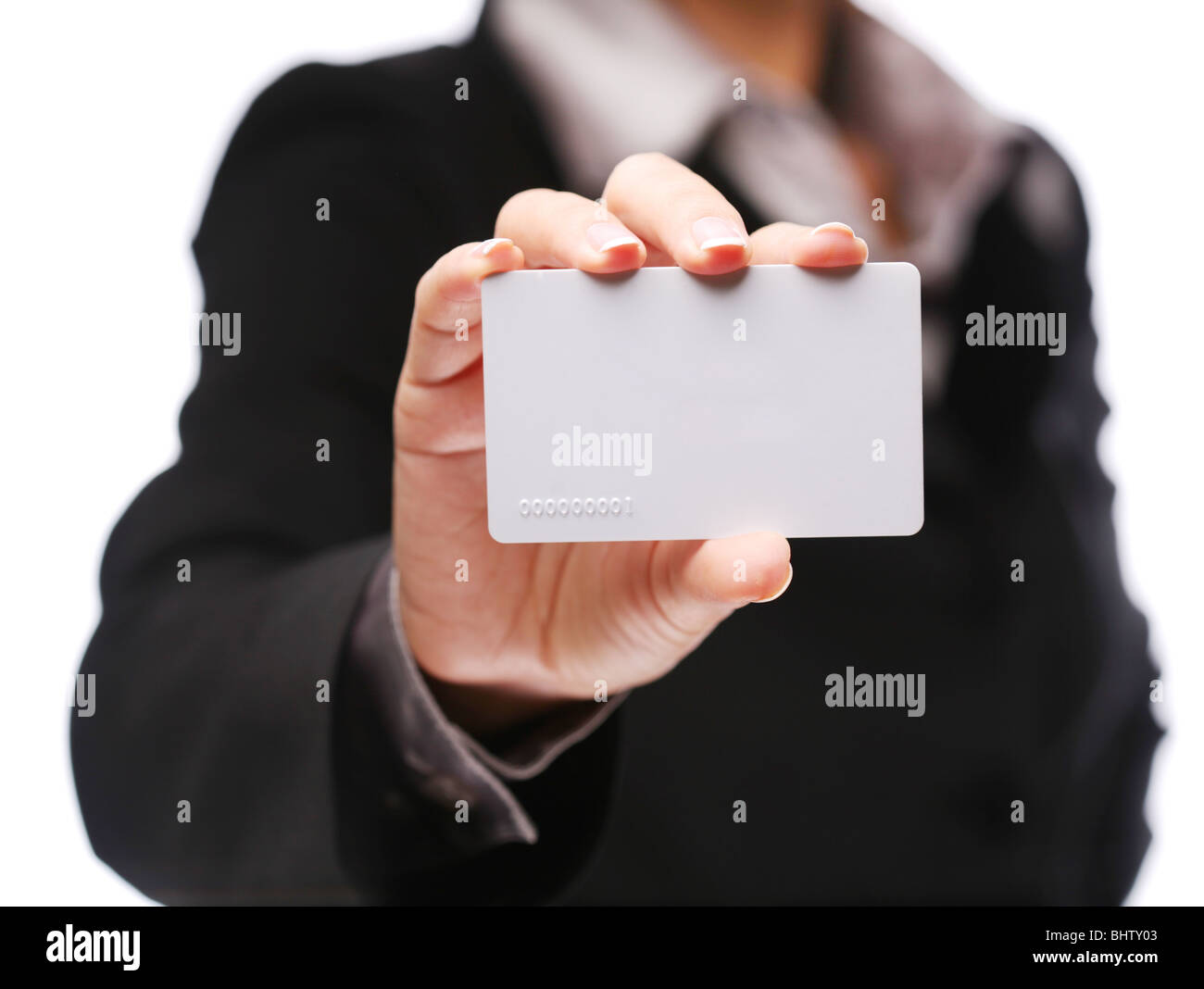 Credit card in woman hand - Stock Image