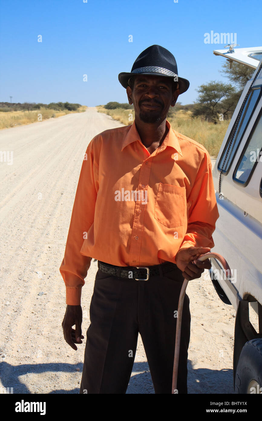 Africa Namibia Streets Uis Younger Men - Stock Image