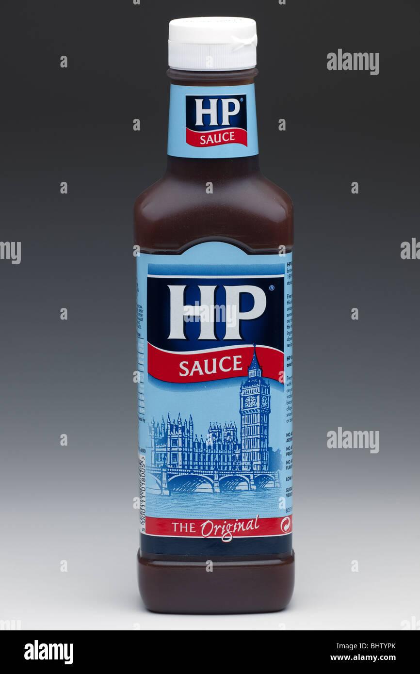 Bottle of HP original brown sauce - Stock Image