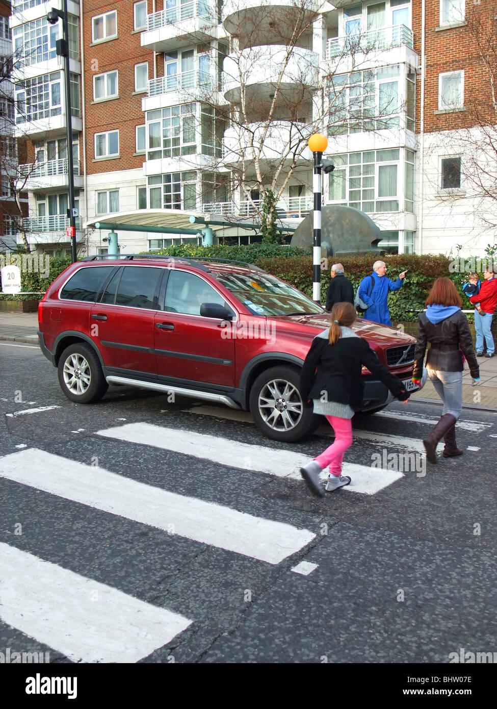 uk england london zebra crossing Stock Photo
