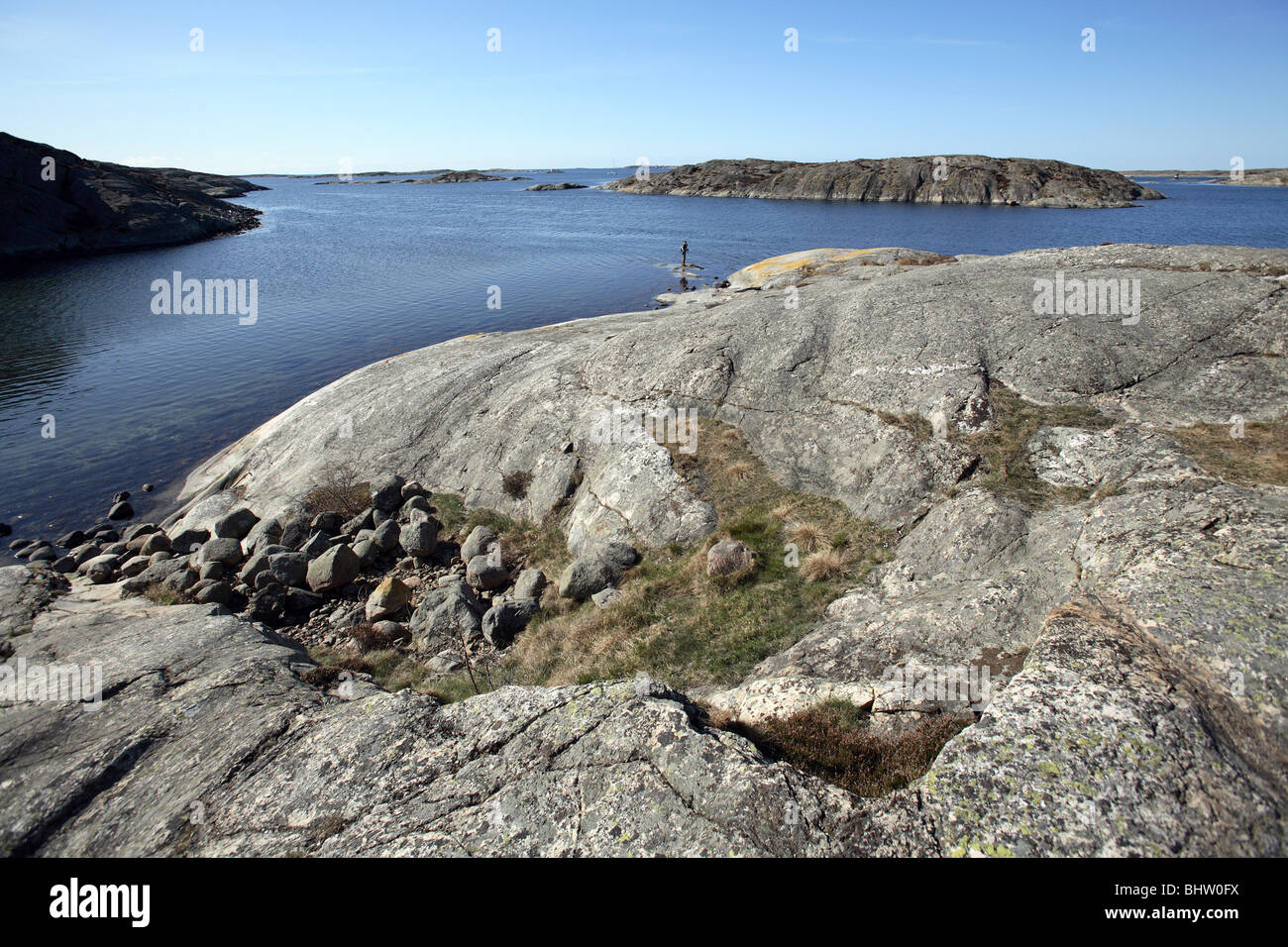 Landscape at the Baltic Sea in Stocken, Orust, Sweden - Stock Image