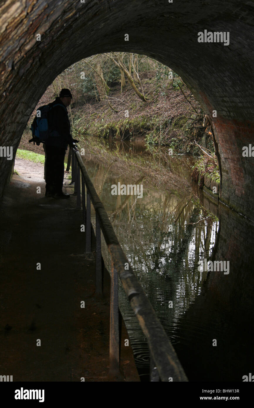 Ellesmere Tunnel On The Llangollen Section of the Shropshire Union Canal - Stock Image