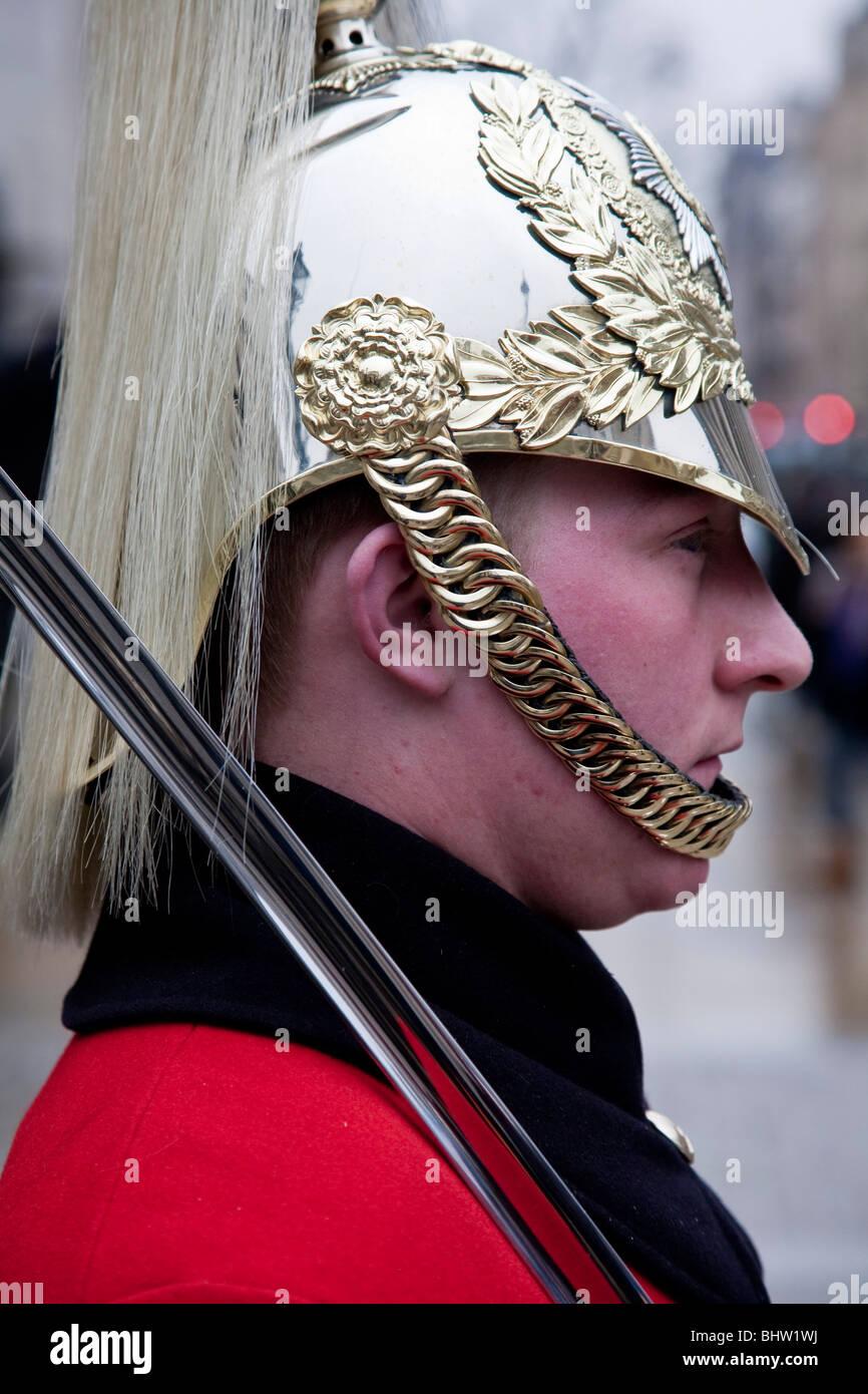 The Queens Lifeguards, Horseguards Parade, London, England Stock Photo