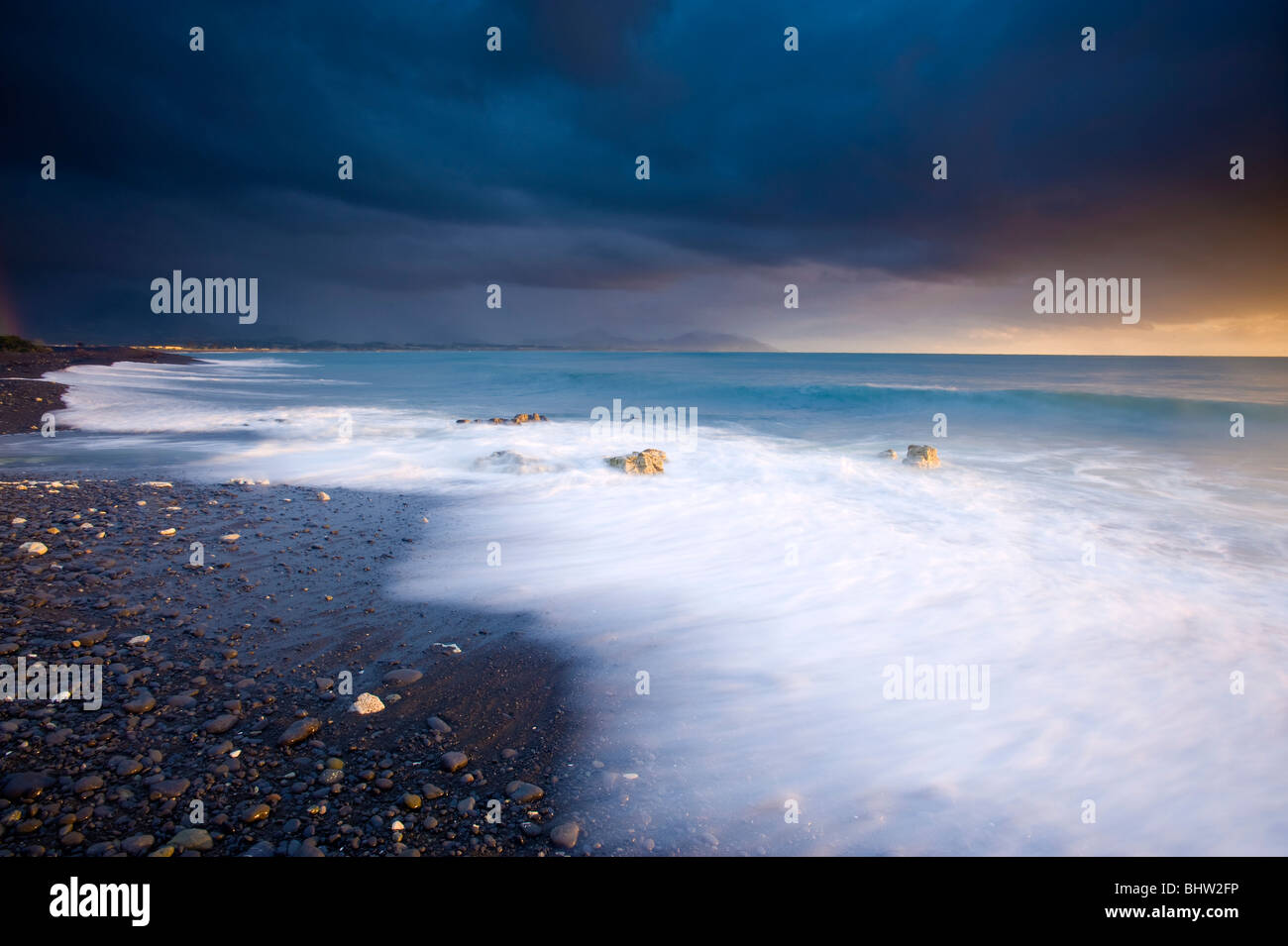 Gooch's Beach, Kaikoura, South Island, New Zealand - Stock Image