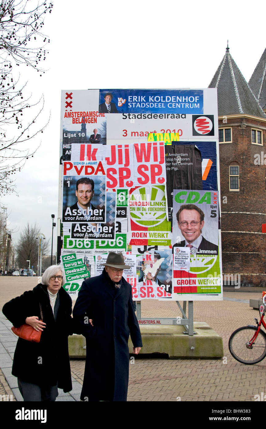 Amsterdam Netherlands Holland politician politic polls election - Stock Image