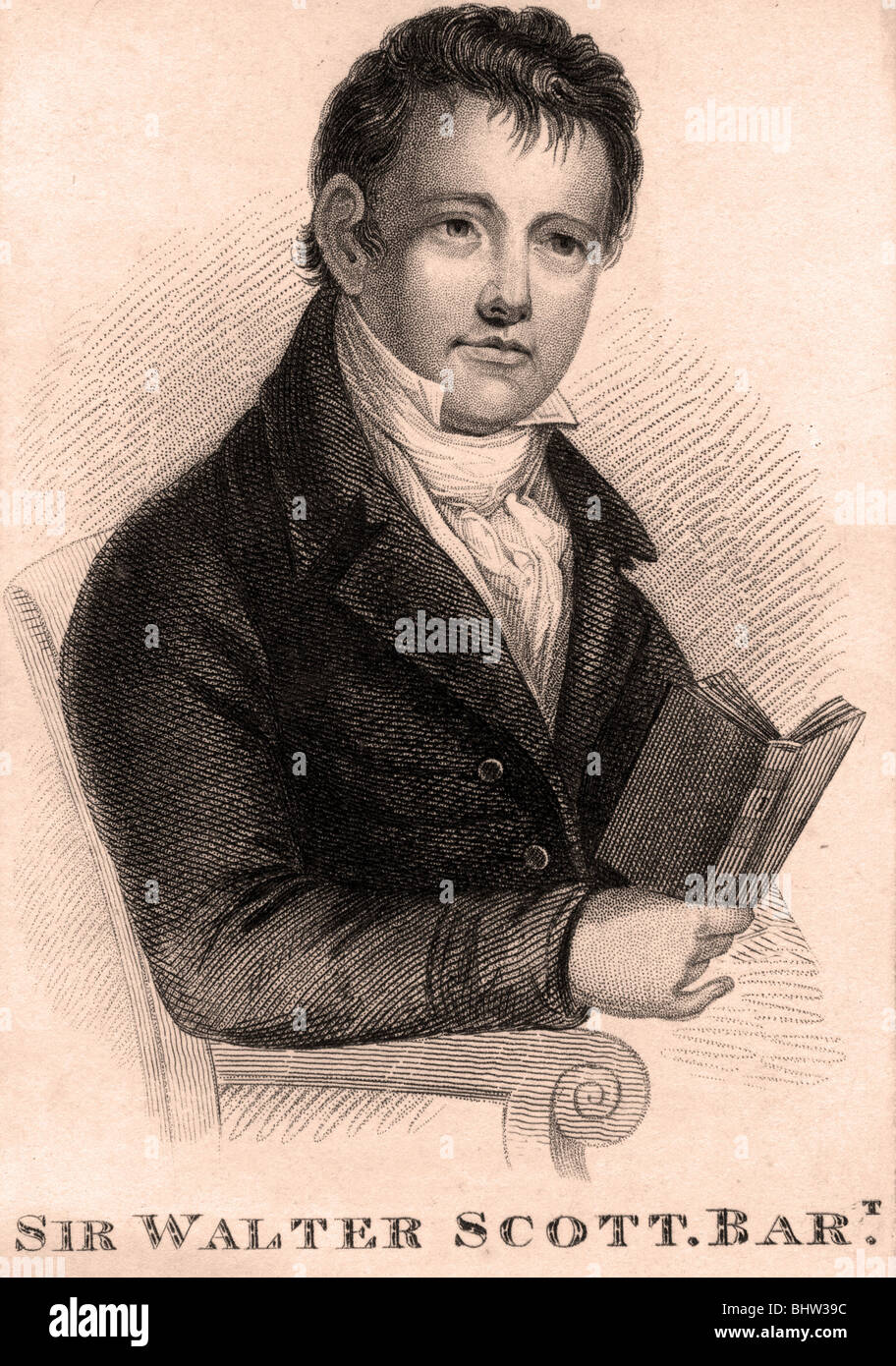 SIR WALTER SCOTT - Scottish novelist and poet (1771-1832) - Stock Image