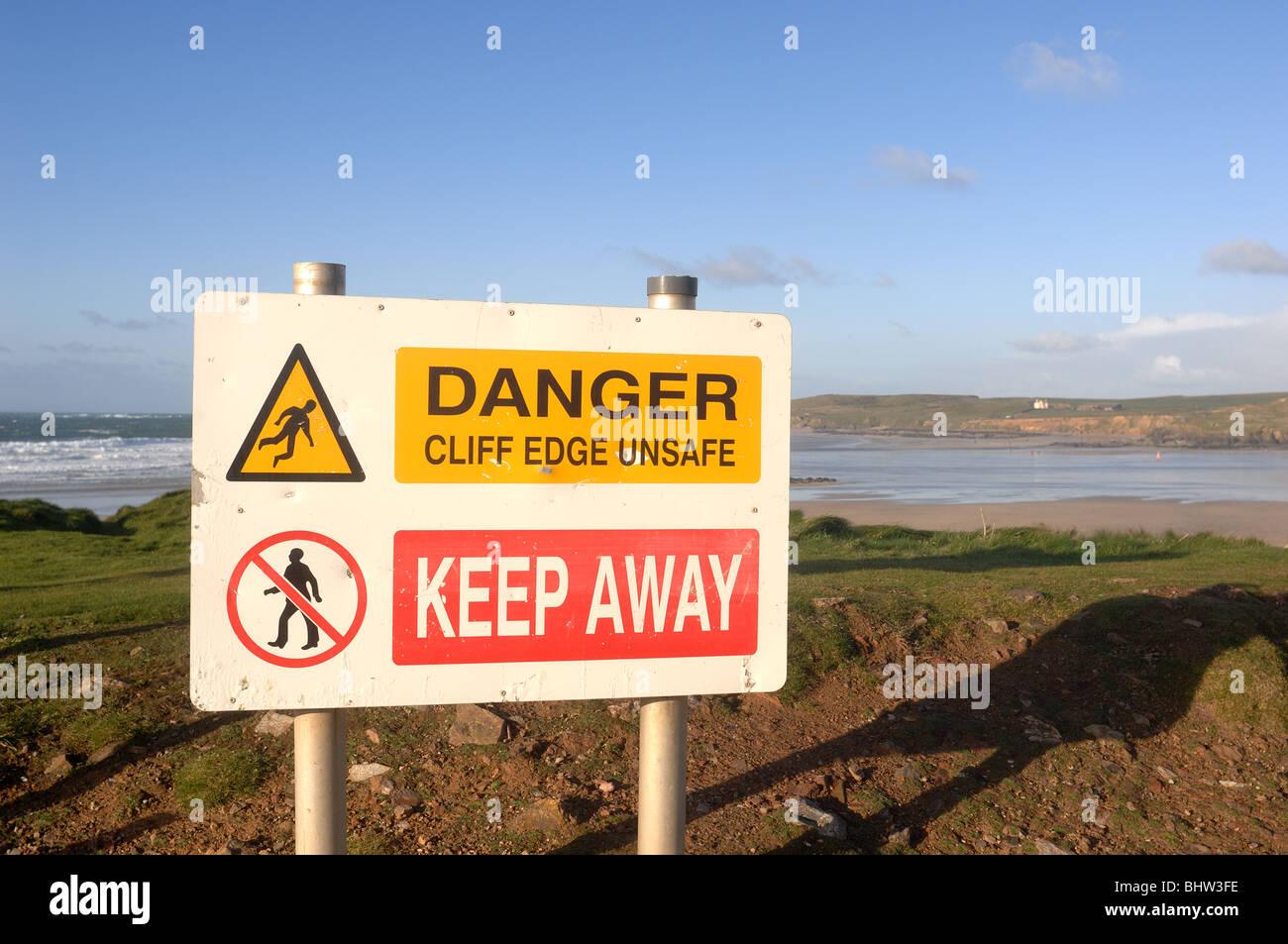 Warning Sign - John Gollop - Stock Image