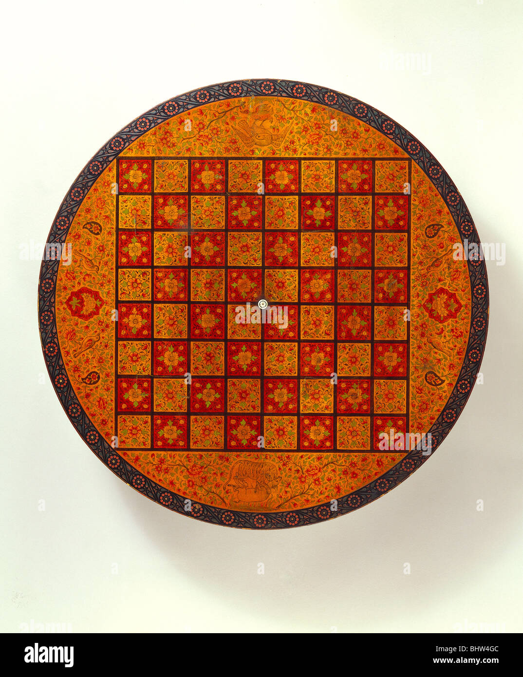 Chess Table Top. Sind, West India, 19th Century   Stock Image