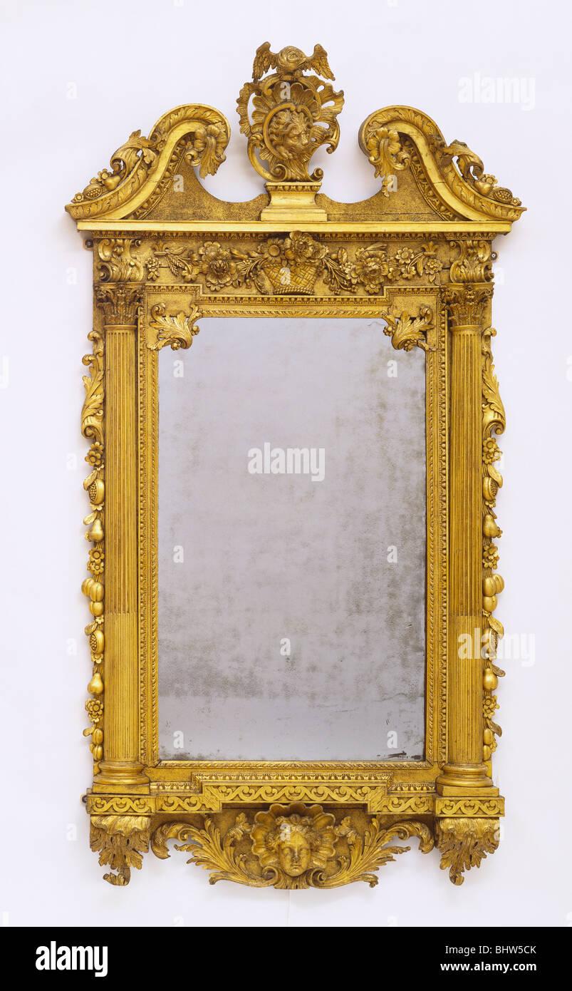 Mirror. Dublin, Ireland, mid-18th century - Stock Image