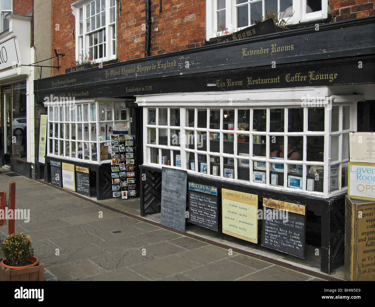 The oldest chemist shop in England Stock Photo
