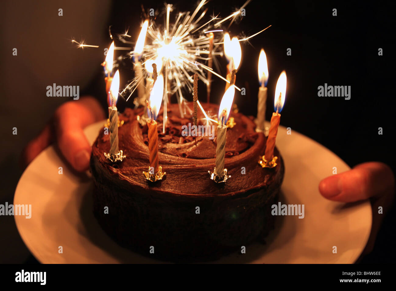 Excellent Cake Sparklers Stock Photos Cake Sparklers Stock Images Alamy Funny Birthday Cards Online Alyptdamsfinfo